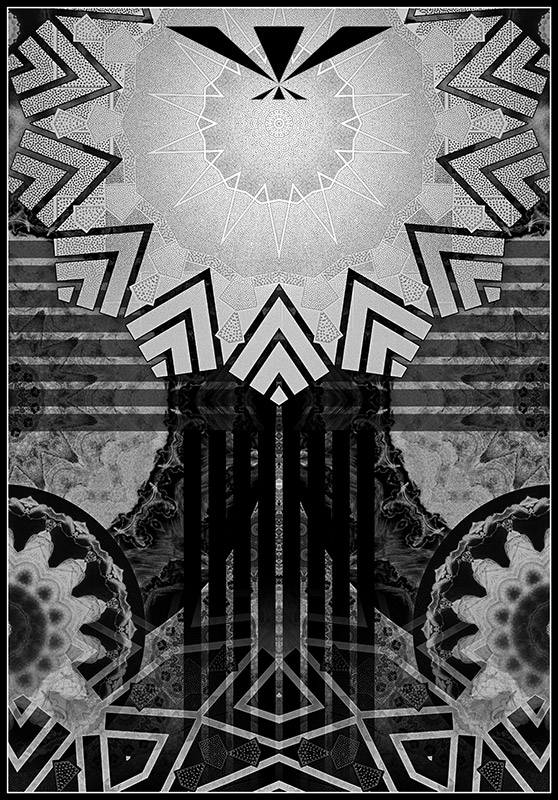Art Deco Metal Etching Pattern | DRONEFACE